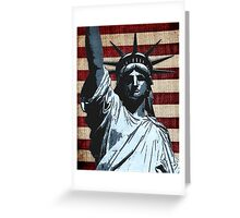 Liberty Flag Greeting Card
