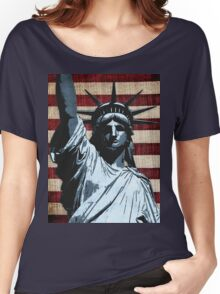 Liberty Flag Women's Relaxed Fit T-Shirt