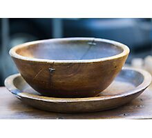 old wooden bowl Photographic Print