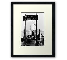 Nice Day for a Gondola Ride Framed Print