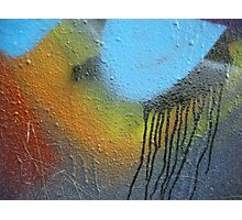 grafitti street art paint splatter drip Photographic Print
