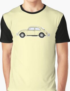 VW, Volkswagen, Beetle, Bug, Motor, Car, Cream Graphic T-Shirt
