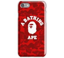 Ape x Red Camo iPhone Case/Skin