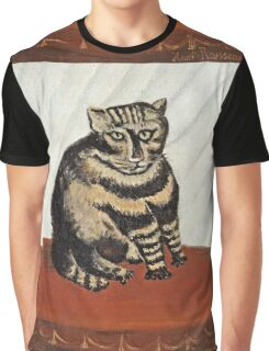 Henri Rousseau - The Tabby  Graphic T-Shirt