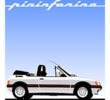 Peugeot 205 by Pininfarina Photographic Print