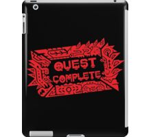 Monster Hunter Quest Complete angled iPad Case/Skin