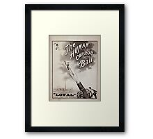 Performing Arts Posters The human canon ball 0518 Framed Print