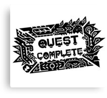 Monster Hunter Quest Complete - Black Canvas Print