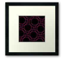 Fractal glowing background  Framed Print