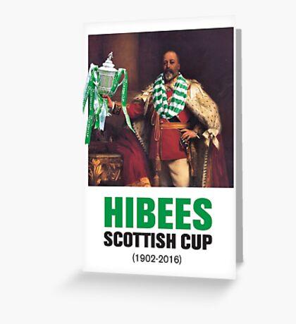 Hibs scottish Cup winners 2016 Greeting Card