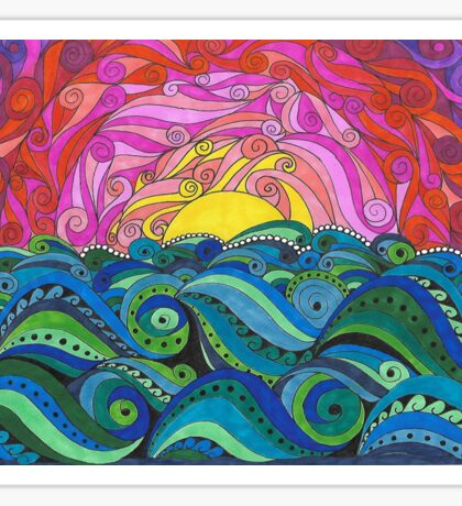 Sunset Moo Sticker
