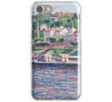 Maximilien Luce - Bas Meudon The Barge On The River 1897  iPhone Case/Skin