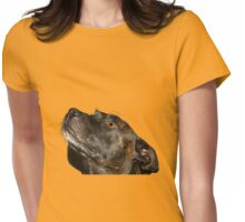 Cute Staffie Womens Fitted T-Shirt