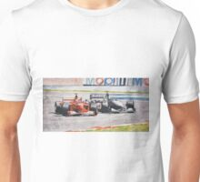 """""""Spin"""", Schumacher and Coulthard Unisex T-Shirt"""