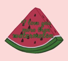 I love you more than watermelon One Piece - Short Sleeve