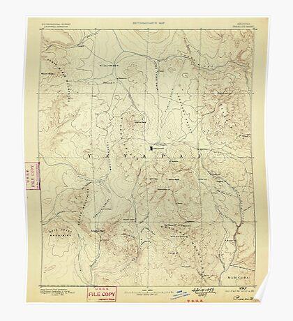 USGS TOPO Map Arizona AZ Prescott 315581 1892 250000 Poster