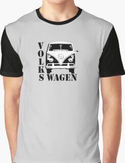 Volkswagen, Van, VW, Camper, Split screen, 1966, Volkswagen, Kombi (North America), BW Graphic T-Shirt