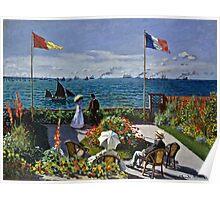 Claude Monet - Jardin A Sainte Adresse  Poster