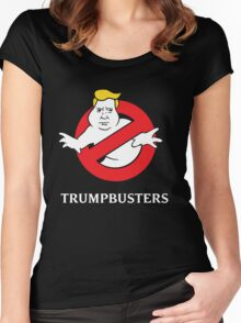 Trump Busters - Donald Trump Ghostbusters Women's Fitted Scoop T-Shirt