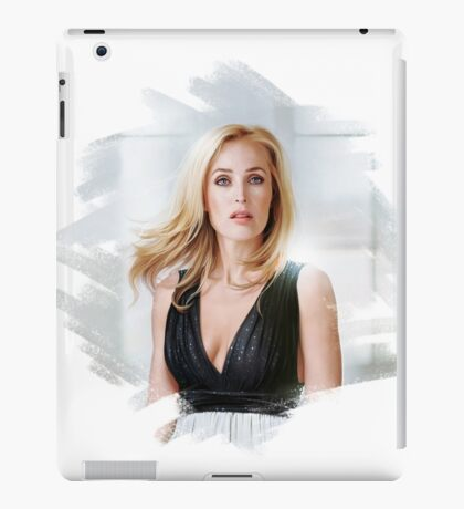 Creative portrait of Gillian Anderson iPad Case/Skin