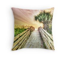 Over The Boardwalk Throw Pillow