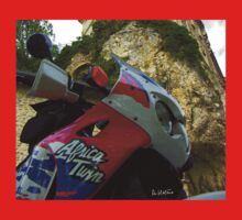 Africa twin on the road Baby Tee