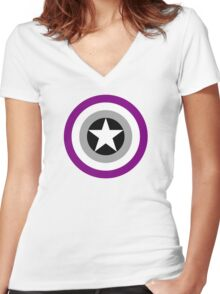 Pride Shields - Ace Women's Fitted V-Neck T-Shirt