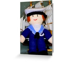 Knitted Dolls Fun 2 Greeting Card