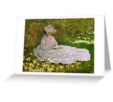 Claude Monet - Springtime (1872)  Greeting Card
