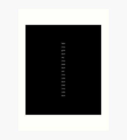 the minimalist (version 2) Art Print