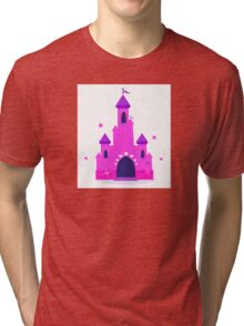 Wild pink Princess castle isolated on white background Tri-blend T-Shirt