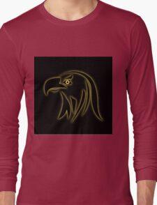 Glowing eagle on black  Long Sleeve T-Shirt