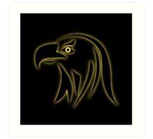Glowing eagle on black  Art Print