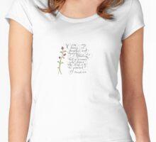 Charm and Beauty inspirational handwritten verse Women's Fitted Scoop T-Shirt