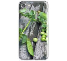 Pea green on boards iPhone Case/Skin