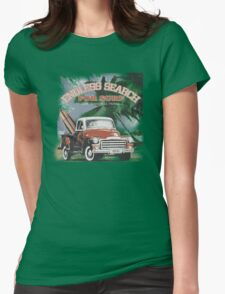 retro surf Womens Fitted T-Shirt