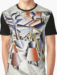 Kazimir Malevich - Morning In The Village After Snowstorm  Graphic T-Shirt