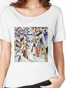 Kazimir Malevich - Morning In The Village After Snowstorm  Women's Relaxed Fit T-Shirt