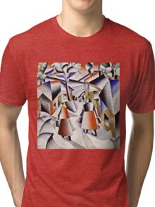 Kazimir Malevich - Morning In The Village After Snowstorm  Tri-blend T-Shirt
