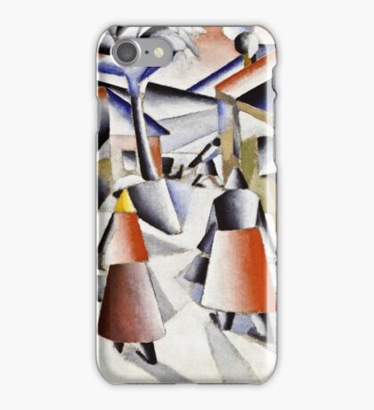 Kazimir Malevich - Morning In The Village After Snowstorm  iPhone Case/Skin
