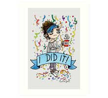 I did it! Watercolor Painting Art Print