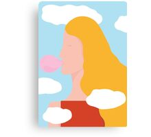 Head in clouds Canvas Print