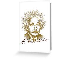 Albert Einstein visionary in modern physics Greeting Card