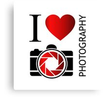 I love photography Canvas Print