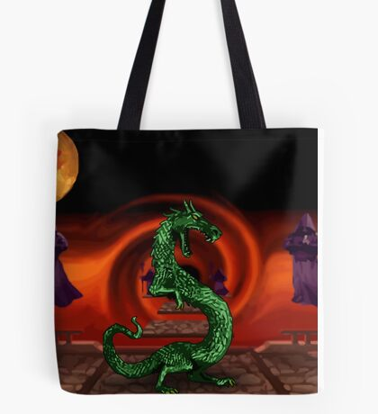 Mortal Kombat Dragon Tote Bag