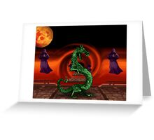 Mortal Kombat Dragon Greeting Card