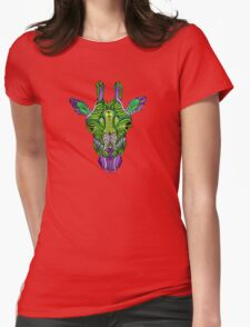 Psychedelic Giraffe Womens Fitted T-Shirt