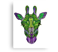 Psychedelic Giraffe Canvas Print