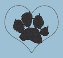 Paw Print In Heart 1 Kids Clothes