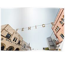 Classic Venice Beach Sign (Color) Poster